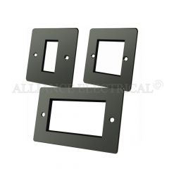 Black Nickel Flat Plate Data Grid Outlet Face Plate 1 Gang 2G 4G With Frame