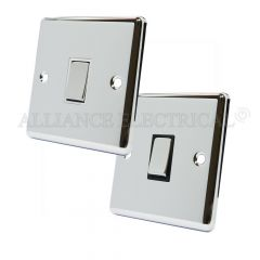 Polished Mirror Chrome Classical 1 Gang Switch -10 Amp Single 2 Way Light Switch
