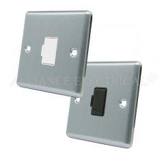 Satin Chrome Classical Unswitched Fused Spur - 13 Amp Fused Connection Unit
