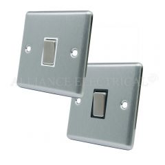 Satin Chrome Classical Intermediate 1 Gang Switch -10 Amp Single Light Switch