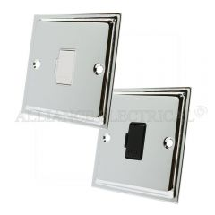 Polished Chrome Slimline Unswitched Fused Spur - 13 Amp Fused Connection Unit