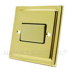 Victorian Polished Brass Fan Isolator Switch 10 Amp 3 Pole Fan Isolation